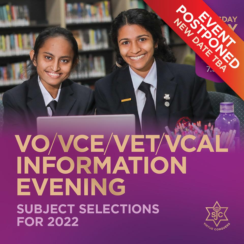 SJC Information Evening 2022 Postponed